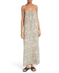 Vince   Natural Vintage Floral Silk Slipdress   Lyst