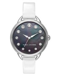 Marc Jacobs | Metallic Betty Leather Strap Watch | Lyst