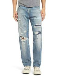 True Religion | Blue Geno Straight Leg Jeans for Men | Lyst