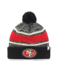 47 Brand - Red Nfl Fairfax Cuff Beanie for Men - Lyst