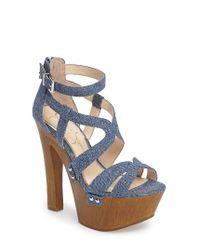Jessica Simpson | Blue Dorrin Platform Sandal | Lyst