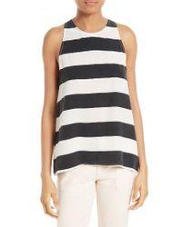 Joie | Black Kia Stripe Silk Top | Lyst