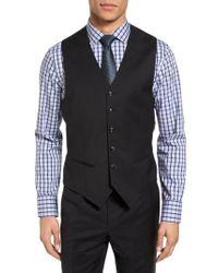 Ted Baker | Black Jones Trim Fit Wool Vest for Men | Lyst
