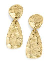 Karine Sultan | Metallic Athena Oval Drop Earrings | Lyst