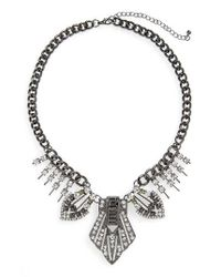 TOPSHOP - Metallic Statement Collar Necklace - Lyst