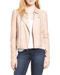 PAIGE Multicolor Silvie Leather Moto Jacket