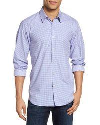 Jeremy Argyle Nyc   Blue Slim Fit Mini Check Sport Shirt for Men   Lyst