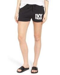 Ivy Park | Black Logo Shorts | Lyst