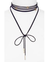 BaubleBar | Blue Stella Lariat Necklace | Lyst