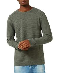 TOPMAN | Green Slim Fit Ribbed Sweater for Men | Lyst