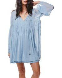 Free People | Blue Lini Babydoll Dress | Lyst