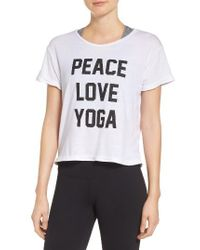 Private Party | White Peace Love Yoga Tee | Lyst
