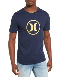 Hurley | Blue Circle Icon Dri-fit T-shirt for Men | Lyst