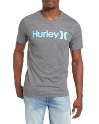 Hurley | Gray One And Only Dri-fit T-shirt for Men | Lyst