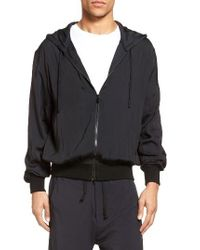 Vince - Black Hooded Jacket for Men - Lyst