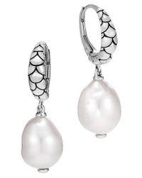 John Hardy | Metallic Legends Naga Pearl Earrings | Lyst
