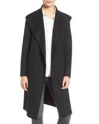 Mackage | Black Belted Long Wool Coat | Lyst