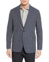 Bugatchi | Blue Textured Cotton Blazer for Men | Lyst