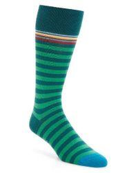 Paul Smith | Green Multi Stripe Socks for Men | Lyst