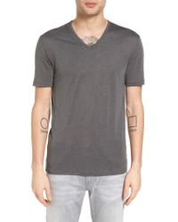 John Varvatos | Gray John Varvatos Collection Pintuck Detail V-neck T-shirt for Men | Lyst