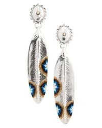 Gas Bijoux | Blue Plume Drop Earrings | Lyst