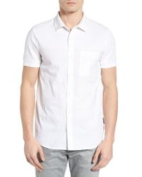 French Connection | White Slim Fit Hybrid Polo Shirt for Men | Lyst