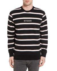 Obey   Black St. Clair Stripe Sweatshirt for Men   Lyst