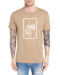 Obey | Natural No One's Flower Graphic T-shirt for Men | Lyst