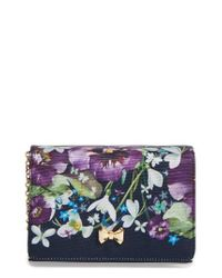 Ted Baker | Blue Entangled Enchantment Clutch | Lyst