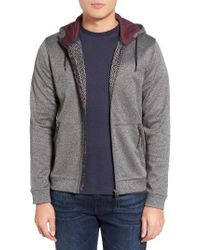 Ted Baker | Gray Shuters Zip Hoodie for Men | Lyst