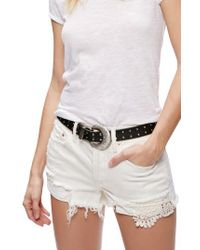 Free People | White Daisy Chain Lace Shorts | Lyst