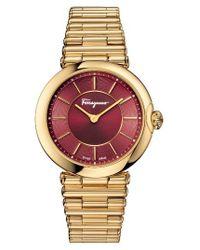 Ferragamo | Metallic Bracelet Watch | Lyst