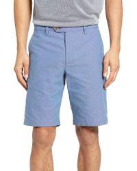 Ted Baker   Blue Evisho Cotton Shorts for Men   Lyst