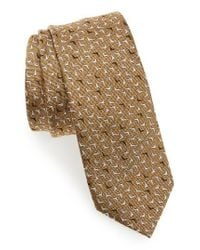 Lanvin | Metallic Logo Silk Skinny Tie for Men | Lyst