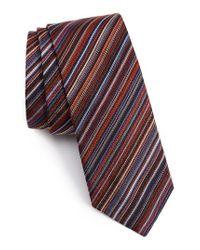 Paul Smith | Purple Classic Multistripe Silk Tie for Men | Lyst