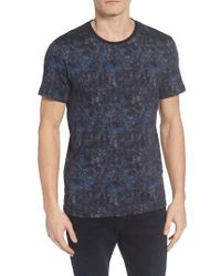 Ted Baker   Blue Crafter Print T-shirt for Men   Lyst