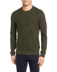 Ted Baker | Green Marlin Ribbed Sleeve Sweater for Men | Lyst