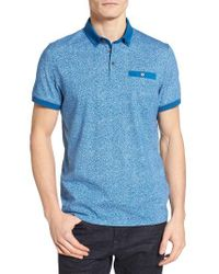 Ted Baker - Blue Teller Print Polo for Men - Lyst
