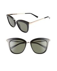 Le Specs | Black Caliente 53mm Cat Eye Sunglasses | Lyst