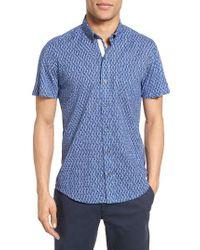 W.r.k. | Blue Reworked Spokes Trim Fit Sport Shirt for Men | Lyst