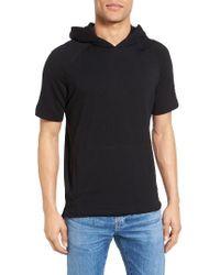 W.r.k.   Black Lawson Short Sleeve Hoodie for Men   Lyst