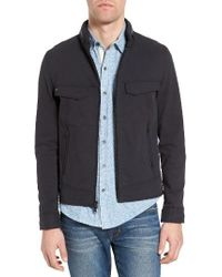 W.r.k. | Black Burl Hooded Twill Jacket for Men | Lyst