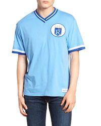 Mitchell & Ness - Blue Kansas City Royals - Vintage V-neck T-shirt for Men - Lyst