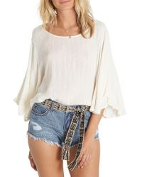 Billabong | White Heart Wants Woven Top | Lyst