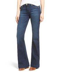 7 For All Mankind | Blue 7 For All Mankind Dojo High Waist Wide Leg Jeans | Lyst