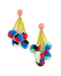 BaubleBar | Blue Caicos Pompom Drop Earrings | Lyst