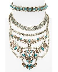 BaubleBar | Metallic Xenia Choker Bib Necklace | Lyst