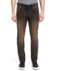 Rock Revival | Black Alternative Straight Leg Jeans for Men | Lyst