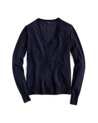 J.Crew | Blue V-neck Italian Featherweight Cashmere Sweater for Men | Lyst