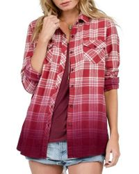 Volcom | Red Sano Days Plaid Shirt | Lyst